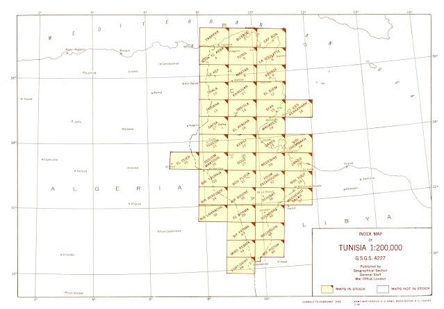 تحميل الخرائط الطبوغرافية لتونس / Tunisia Topographic Maps1:200,000