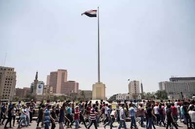 Students in Tahrir square