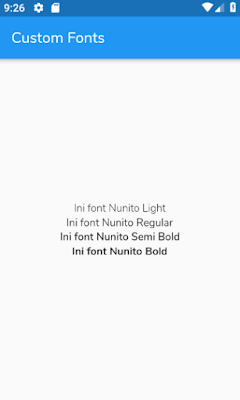 Tutorial Flutter Custom Fonts