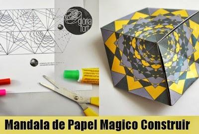 Como hacer un Mandala Magico de Papel