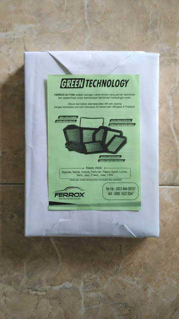 Brosur Promosi Ferrox Air Filter Mobil