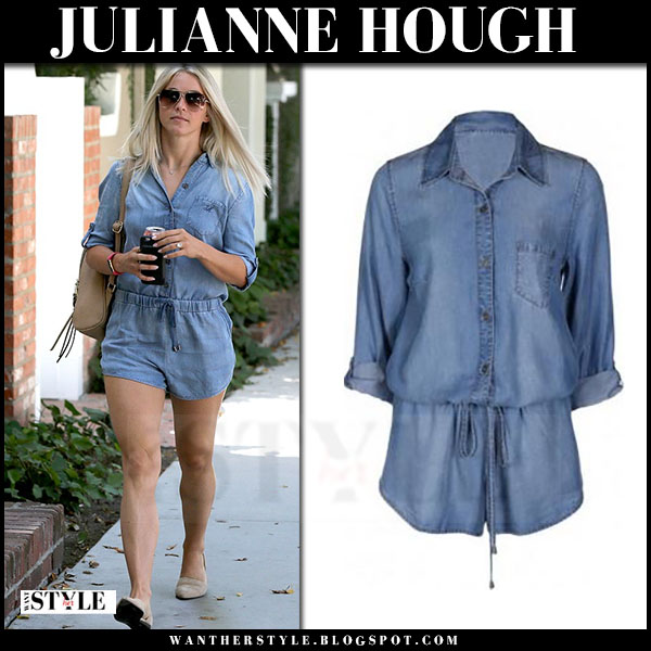 Julianne Hough in blue short romper velvet heart what she wore