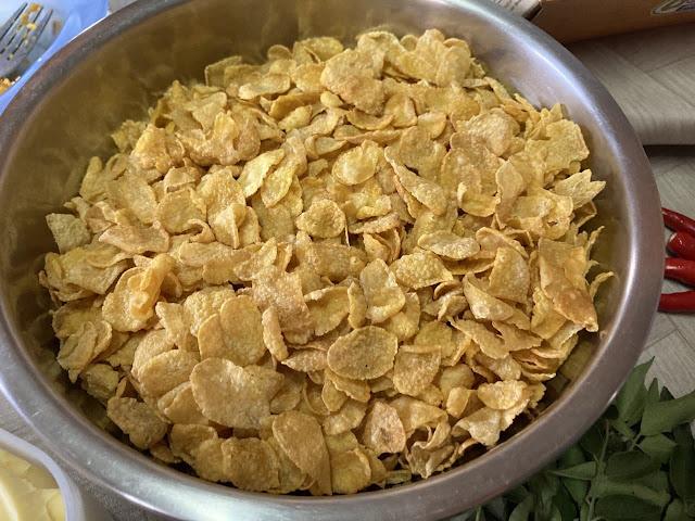 Resepi Salted Egg Conflakes Style Khairul Aming