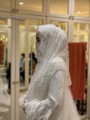 Busana Cantik Wedding Neelofa Rekaan Alia Bastamam