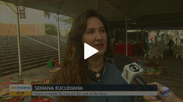 Reportagem da EPTV, afiliada da Rede Globo, sobre a Semana Euclidiana 2018