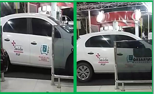 Marcelino Vieira: Vídeo mostra carro da prefeitura em aeroporto