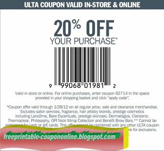 Free Printable Ulta Coupons