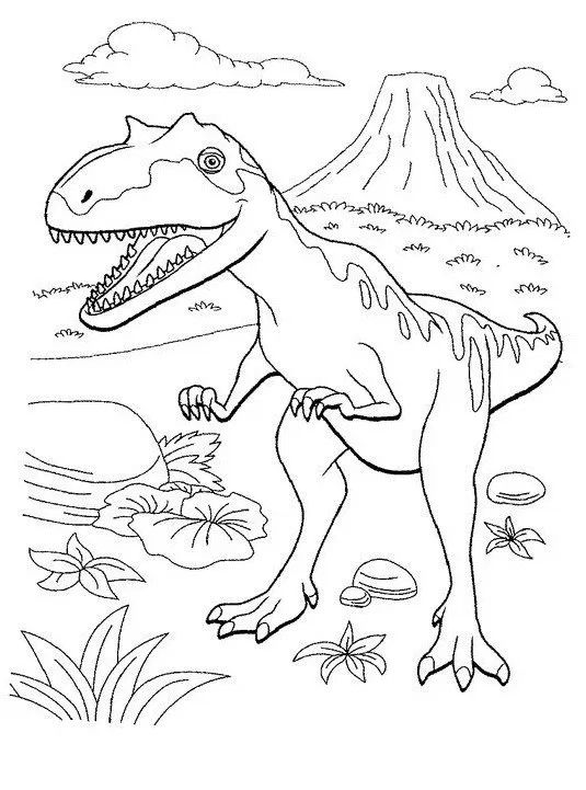 Dinosaurs coloring pages 26
