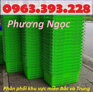 Sọt thanh long, sọt có quai HS011, sóng nhựa quai sắt, sọt nhựa đựng nông sản Scqs