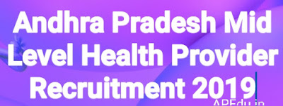 Andhra Pradesh Mid Level Health Provider Recruitment 2019