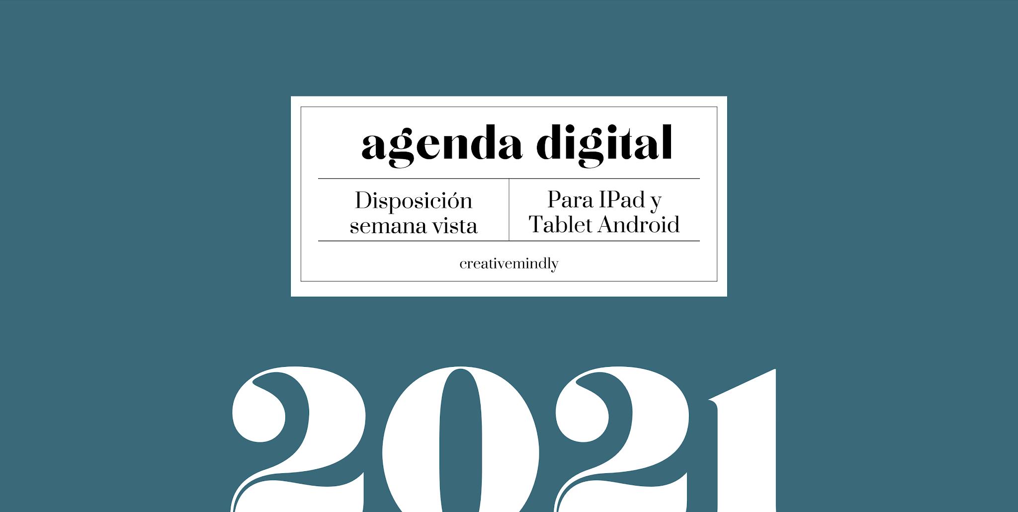 Agenda digital ipad bonita 2021