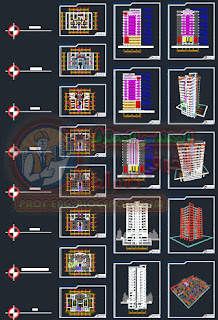 المساقط المعماريه - دورة ايتابس ETABS 2015 Concrete تشمل تصميم برج سكني كامل من الالف الي الياء