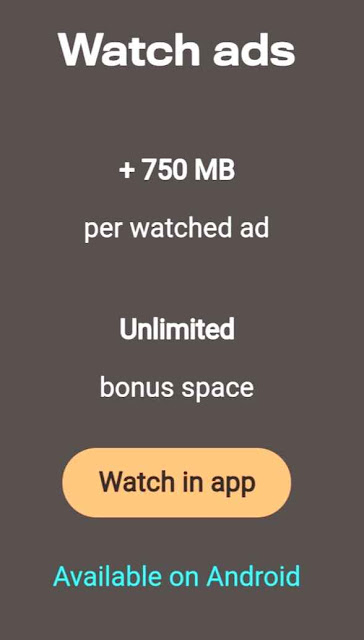Watch Ads And Get 500GB Cloud Storage For Free