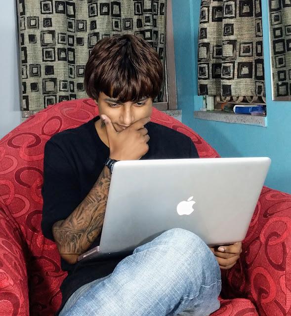 Sourajit Saha With Macbook Pro 3