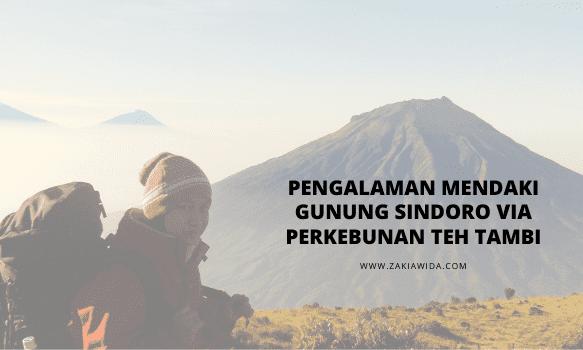 Pengalaman mendaki gunung sindoro