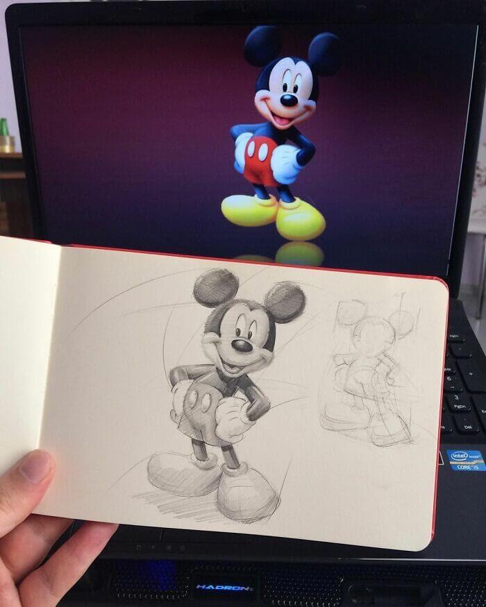 09-Mickey-Mouse-Samet-Turkan-www-designstack-co