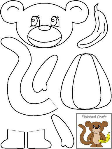plantilla mono para imprimir y recortar