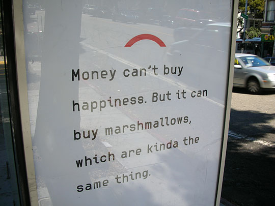 money cant buy happiness