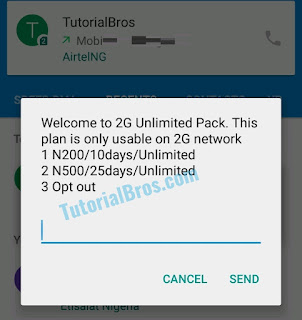 Airtel 2G Unlimited Data Plan of N200 and N500 is