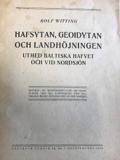 Ruotsinkielisen julkaisun kansi vuodelta 1918