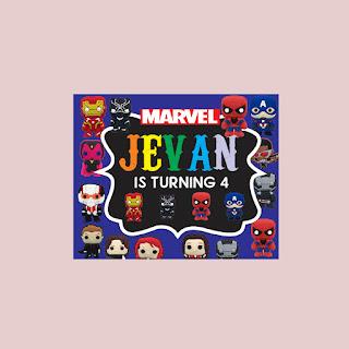 Banner Ultah Tema Superhero Lengkap