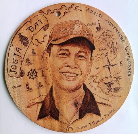 Pirografi Wajah GM Jogja Bay