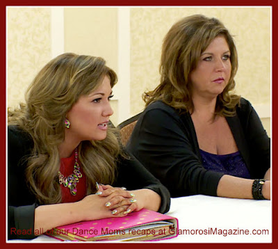 L to R Dallas Lovato and Abby Lee Miller on Dance Moms