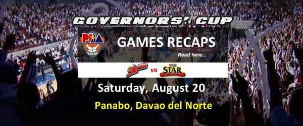 List of PBA Games Saturday August 20, 2016 @ Panabo, Davao del Norte