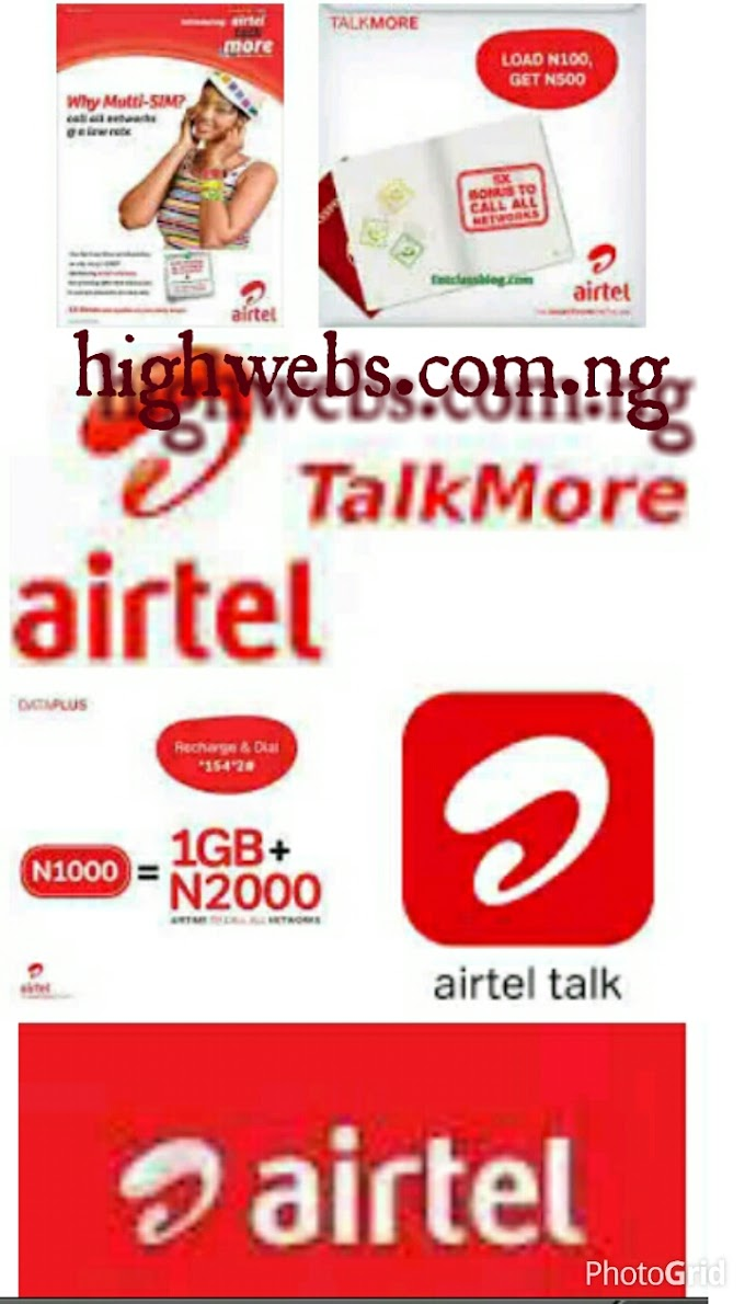 How to get 300 airtime with 60 Naira  on airtel talk more plan.