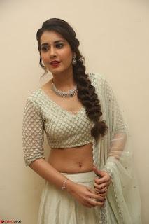 Raashi Khanan looks stunning in Crop Top Deep neck Choli Ghagra Transparent Chunni WOW ~  Exclusive Celebrities Galleries 107.JPG