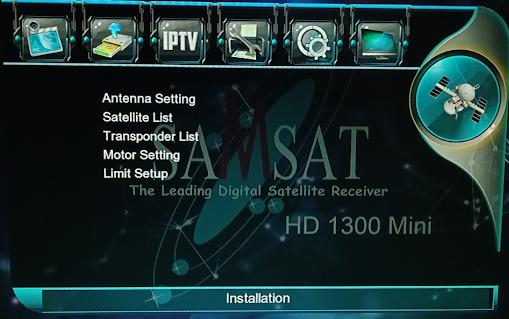 SAMSAT HD1300, LATEST SOFTWARE MENU INFO