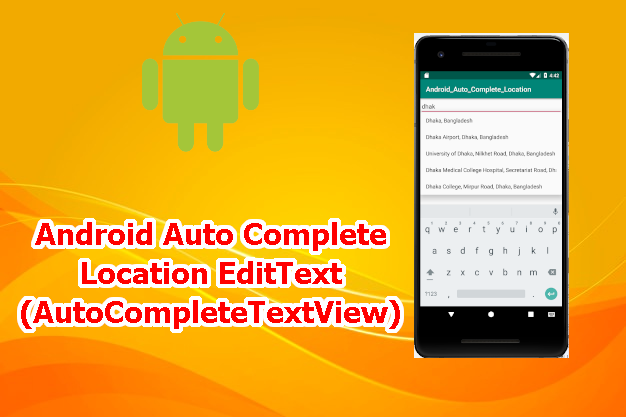 Android AutoCompletetextView