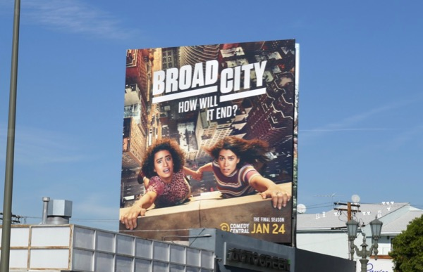 Broad City final season billboard