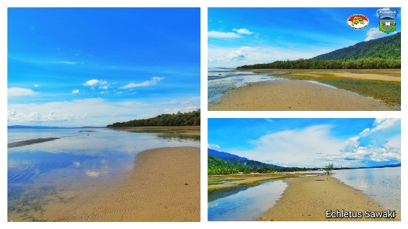 coastal view of Wondama bay in West Papua province