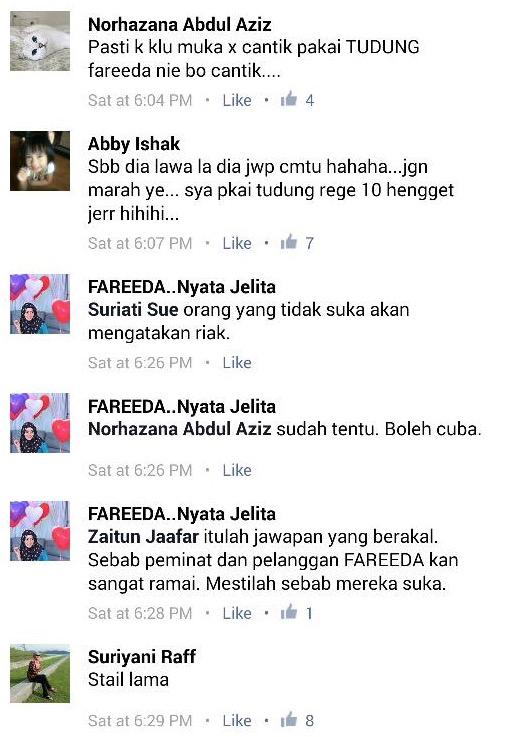 Management Tudung Fareeda riak, bodoh dan bajet hebat