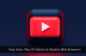 A large red color video playback button