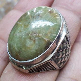Cincin Batu Giok Sojol Maluku - ZP 674