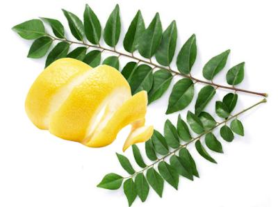 Curry leaves and lemon peel