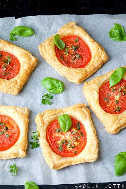Blätterteig, Tomaten, Stress, Alltag, Blitzrezepte, backen, kochen, schnell, keine Zeit