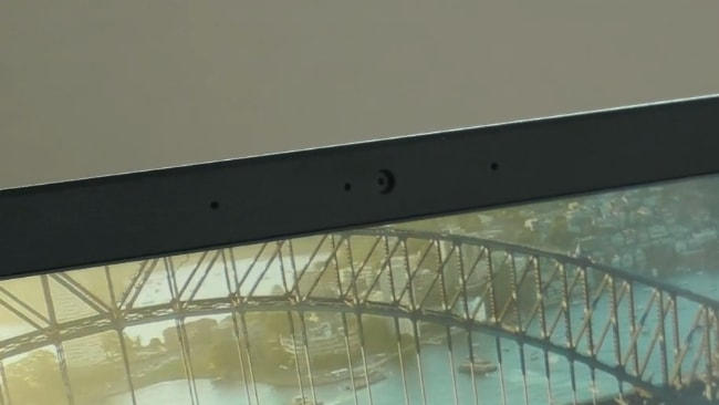 The 720p camera and a microphone placed at the top bezel of the Acer Aspire 5 A514-52G laptop.