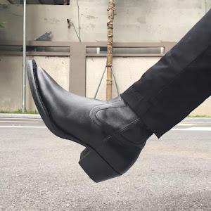 WALKER #722B - LUKAS ZIP BOOTS IN BLACK