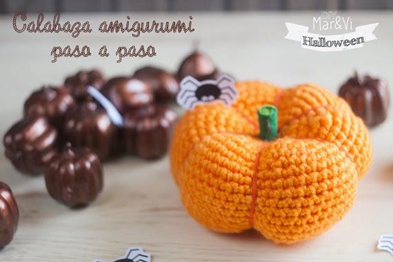 Patrones amigurumi, calabaza de Halloween