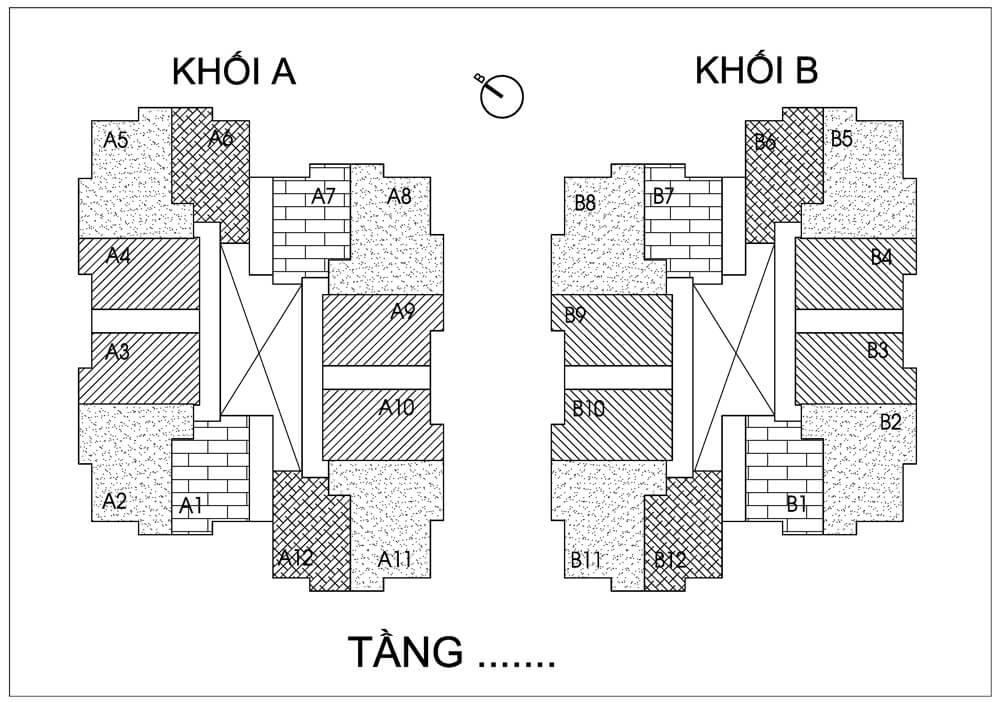 Mặt bằng điển hình dự án Thống Nhất Complex 82 Nguyễn Tuân