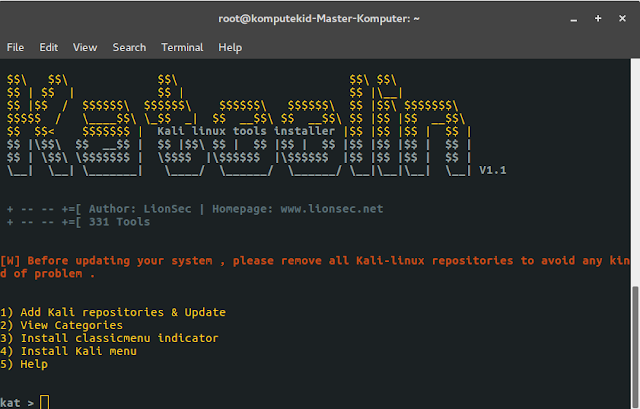 Cara install Tools Kali linux di Ubuntu 16.04 / Ubuntu Gnome 16.04