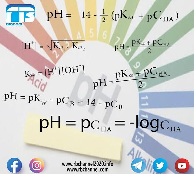 حساب pH محاليل الأحماض والقواعد