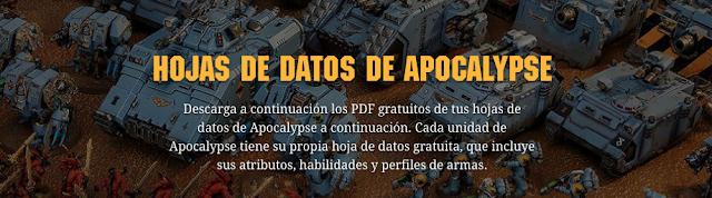 hojas de datos apocalypse