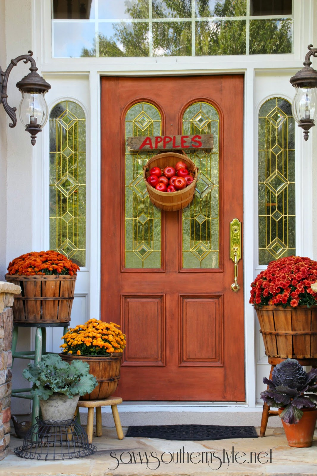 Basket of Fruits | Easy Fall Door Decorations You Can DIY on a Budget | fall door decorations | fall door wreath