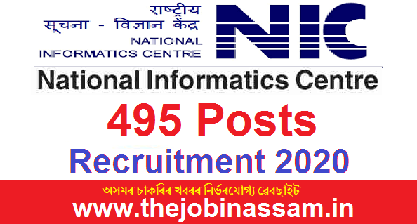 National Informatics Centre Recruitment 2020: Apply Online for 495 Posts