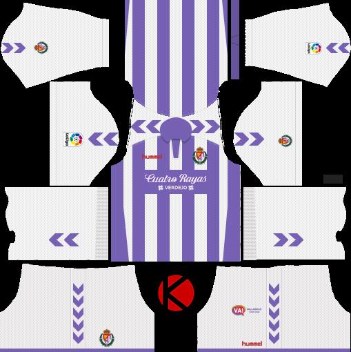 f3e4e4242ed Real Valladolid 2018 19 Kit - Dream League Soccer Kits - Kuchalana