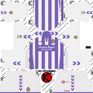 Real Valladolid 2018/19 Kit - Dream League Soccer Kits